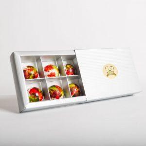 Vidék Szíve fehércsokoládés – málnás bonbon